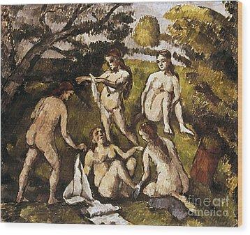 Cezanne: Five Bathers Wood Print by Granger