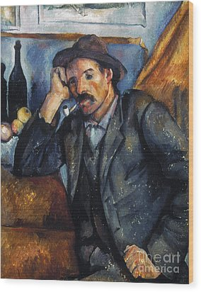 Cezanne: Pipe Smoker, 1900 Wood Print by Granger