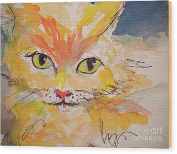 Cfo  Chief Furry Officer Of Jilly Willy Art Wood Print