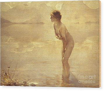 Chabas: September Morn Wood Print by Granger