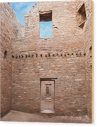 Chaco Canyon Doorways 4 Wood Print