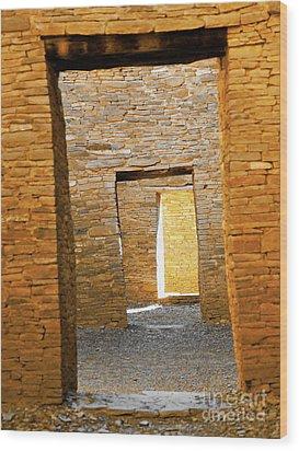 Chaco Canyon Doorways Wood Print