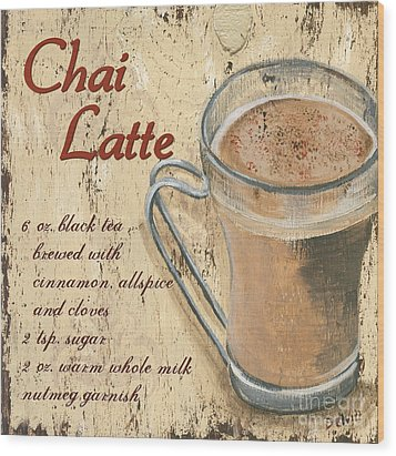 Chai Latte Wood Print by Debbie DeWitt
