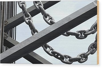 Chain Links Wood Print