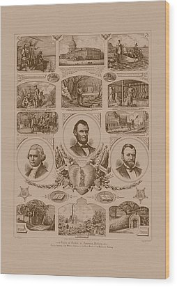 Chain Of Events In American History Wood Print by War Is Hell Store
