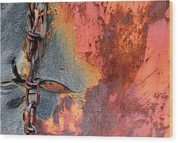 Chained Wood Print by Doug Hockman Photography