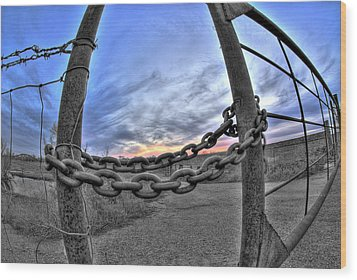 Chained Sky Wood Print by Tom Melo