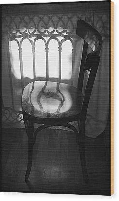 Chair Wood Print by Julia Bridget Hayes