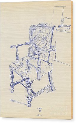 Chair Wood Print by Ron Bissett