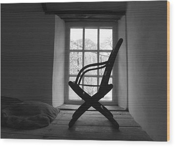 Chair Silhouette Wood Print