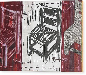 Chair V Wood Print by Peter Allan