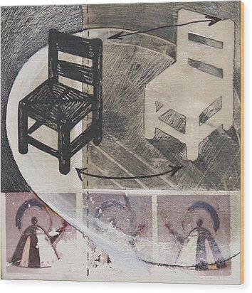Chair Xi Wood Print by Peter Allan