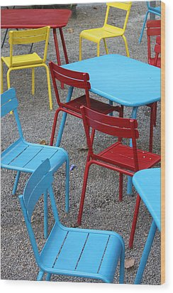Chairs In Bryant Park Wood Print by Lauri Novak