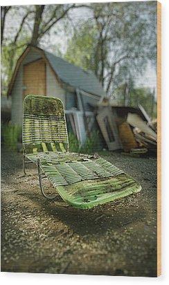 Chaise Lounge Wood Print by Yo Pedro