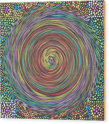 Chakra Swirl Wood Print
