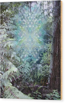 Chalice-tree Spirit In The Forest V3 Wood Print by Christopher Pringer