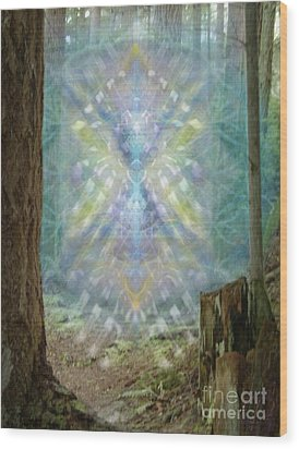 Chalice-tree Spirt In The Forest V2 Wood Print by Christopher Pringer
