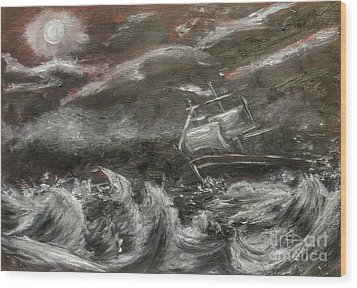 Wood Print featuring the painting Challenged by Isabella F Abbie Shores FRSA