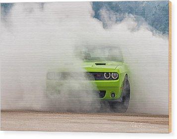 Challenger Smoke Wood Print by Dan Beauvais