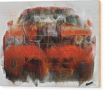 Challenger Wash Wood Print by Michael Cleere
