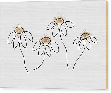 Chamomile Wood Print by Frank Tschakert