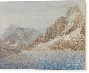 Chamonix Wood Print by SIL Severn