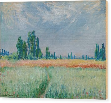Wood Print featuring the painting Champ De Ble by Claude Monet