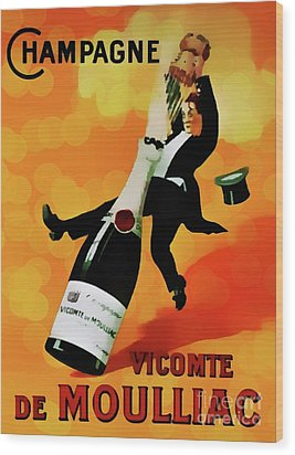 Champagne Celebration Wood Print by Ian Gledhill