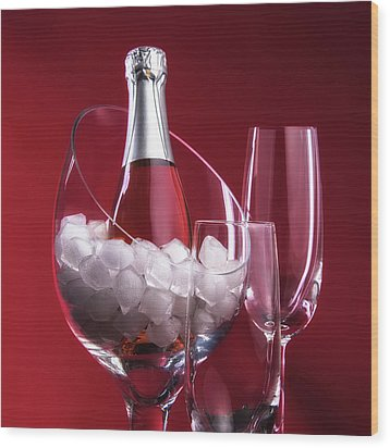 Wood Print featuring the photograph Champagne For Two by Tom Mc Nemar