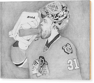 Championship Goalie Wood Print by Kiyana Smith