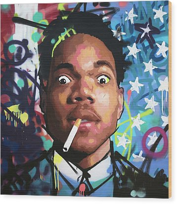 Chance The Rapper Wood Print by Richard Day