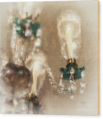Wood Print featuring the digital art Chandelier At Winterthur by Lois Bryan