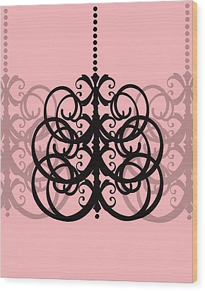 Wood Print featuring the photograph Chandelier Delight 2- Pink Background by KayeCee Spain