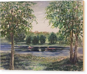 Channel At The Lake Of Isle - Minneapolis  Wood Print by Laila Awad Jamaleldin