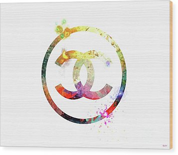 Chanel Logo Wood Print