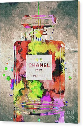 Chanel No 5 Wood Print