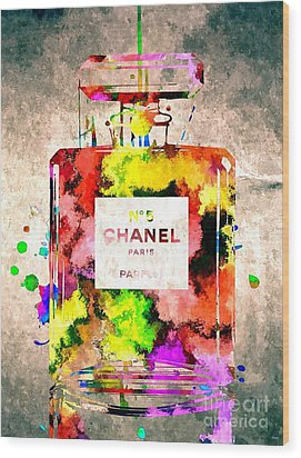 Chanel No 5 Grunge Wood Print