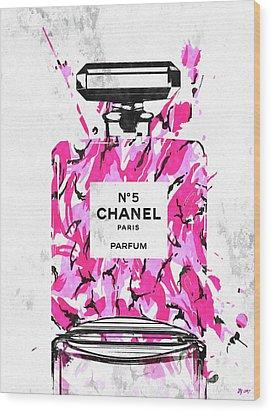 Chanel No. 5 Pink Army Wood Print by Daniel Janda