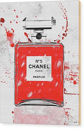 Chanel No 5 Red Wood Print
