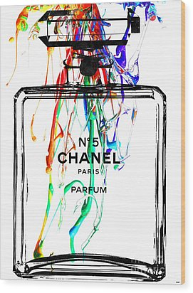 Chanel No. 5 Watercolor Wood Print