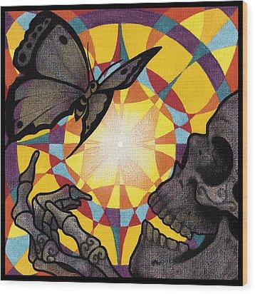 Change Mandala Wood Print by Deadcharming Art