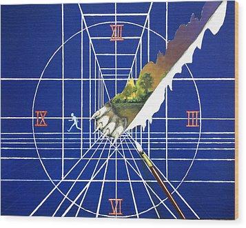Change Of Plans Wood Print by Travis  Ragan