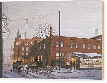 Chanpagne Velvet Brewery Wood Print by C Robert Follett