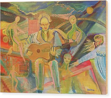 Wood Print featuring the painting Chaos And Redemption by John Keaton