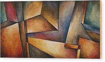 Chaos Wood Print by Michael Lang