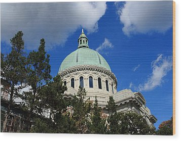 Chapel - Us Naval Academy 3 Wood Print by Lou Ford
