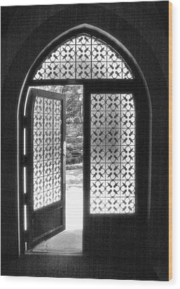 Chapel Door Wood Print