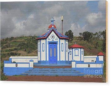 Chapel In Agua De Pau - Azores Wood Print by Gaspar Avila