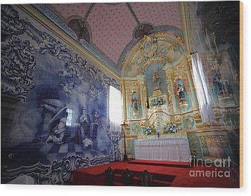 Chapel In Azores Islands Wood Print by Gaspar Avila