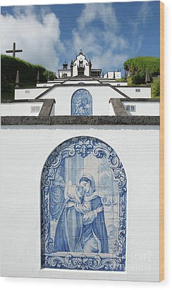 Chapel In The Azores Wood Print by Gaspar Avila